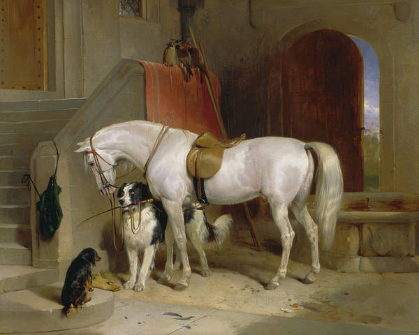 Wall Art - Painting - Favourites, The Property Of H.r.h. Prince George Of Cambridge, 1835 by Sir Edwin Landseer