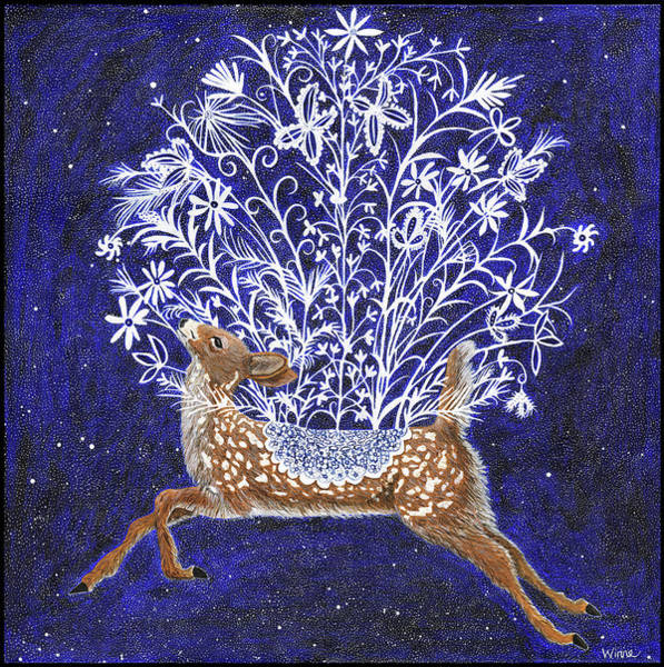 Painting - Fawn Bouquet by Lise Winne