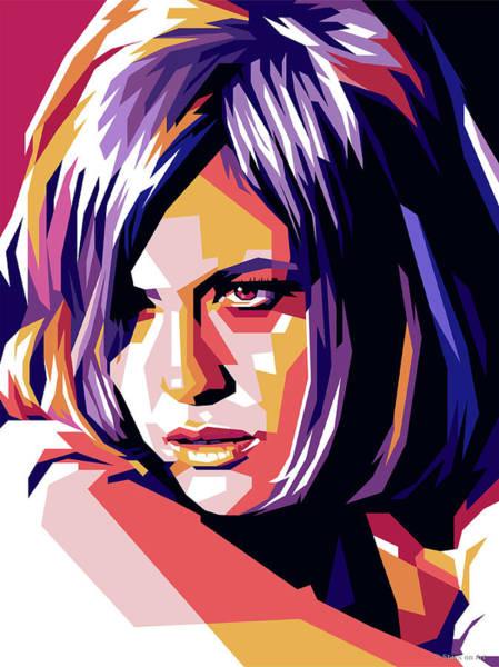 Digital Art - Faye Dunaway Illustration by Stars on Art