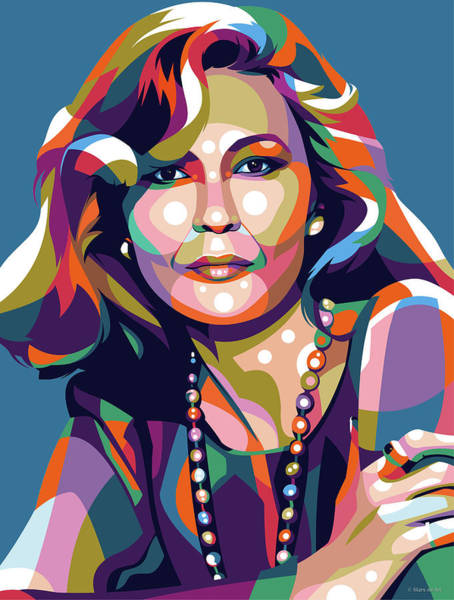 Pop Star Digital Art - Faye Dunaway by Stars-on- Art