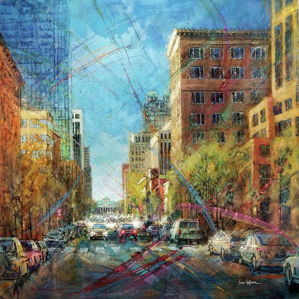 Wall Art - Painting - Fayetteville Street Presence - South by Dan Nelson