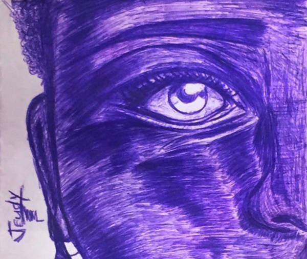 Drawing - Fear by Jeff Jeudy