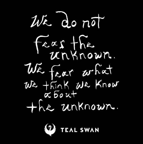 Painting - Fear The Unknown Quote by Teal Eye Print Store