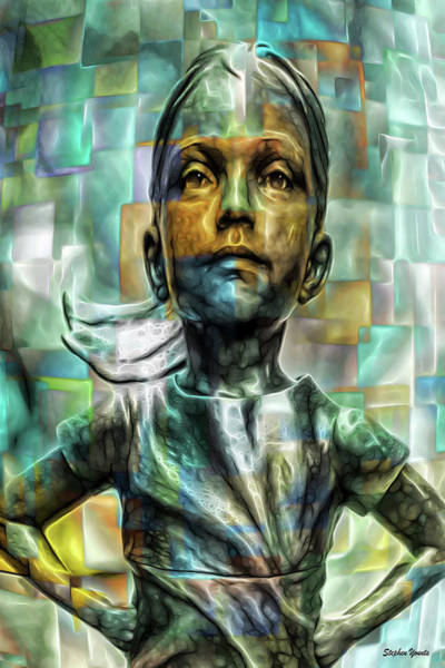 Wall Art - Digital Art - Fearless Girl Nyc by Stephen Younts