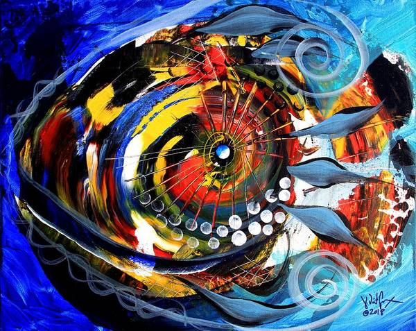 Painting - Feather Tail 5000 by J Vincent Scarpace