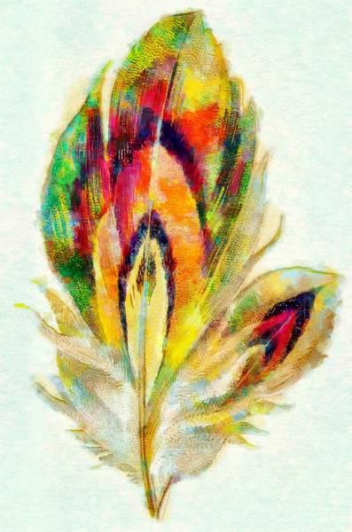 Digital Art - Featherlite by Mario Carini