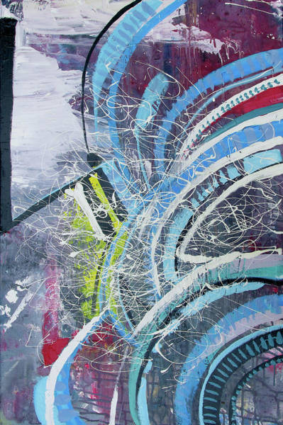 Painting - Feathers Of The Curve by John Jr Gholson
