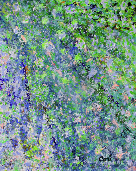 Digital Art - Blue And Green Cascade by Corinne Carroll