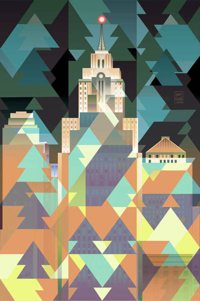 Wall Art - Digital Art - February City Lights by Garth Glazier