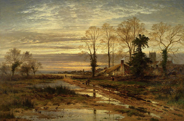 Ditch Painting - February Fill Dyke by Benjamin Williams Leader