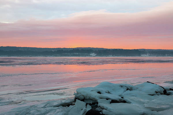 Photograph - February Sunrise On The Hudson by Jeff Severson