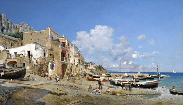 Wall Art - Painting - Federico Del Campo  Italian Coast by Celestial Images