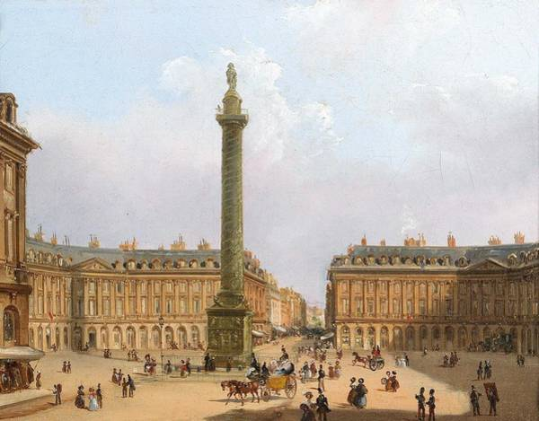 Wall Art - Painting - Federico Moja  Milan 1802-1885 Dolo Near Venice  Place Vendome In Paris, Champs De Mars In Paris by Celestial Images