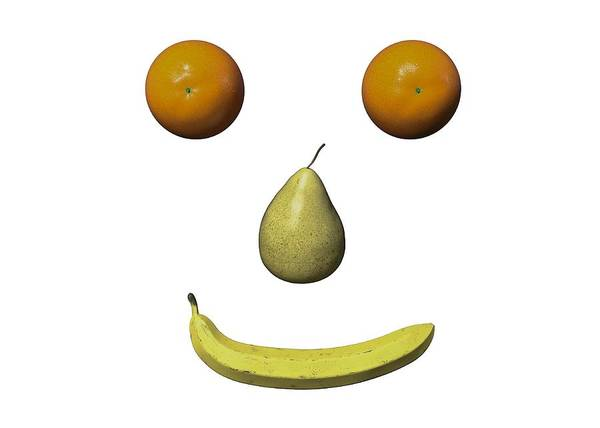 Wall Art - Digital Art - Feeling Fruity Smile Png by Betsy Knapp
