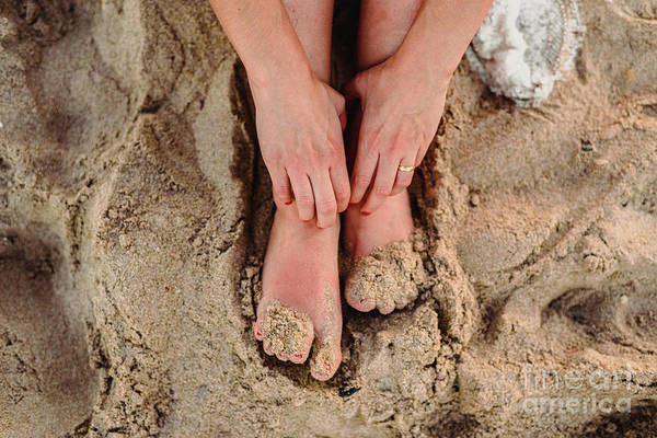 Photograph - Feet Of Woman In The Sand Of A Beach by Joaquin Corbalan