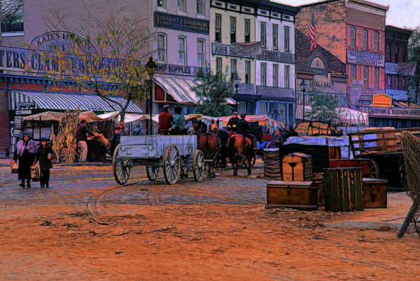 Wall Art - Photograph - Fells Point Movie Set by Mike Flynn