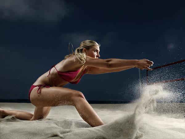 Female Beach Volleyball Art Print