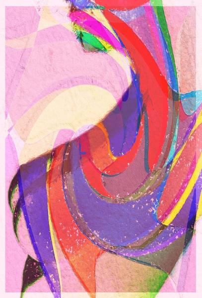 Wall Art - Painting - Female Curves In Color by Steve K