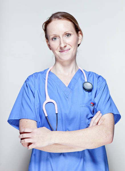 James Brown Photograph - Female Doctor by James Whitaker