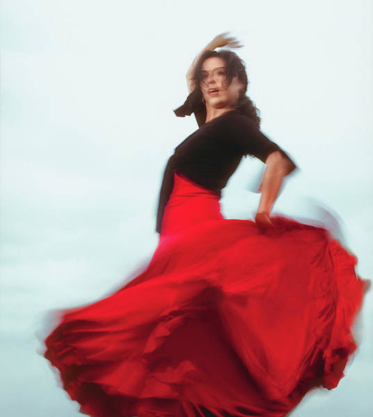 Wall Art - Photograph - Female Flamenco Dancer Outdoors, Low by M. Llorden