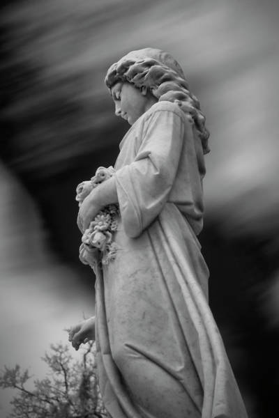 Photograph - Female In Cemetary II by Jon Glaser