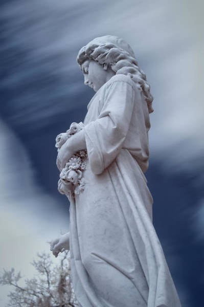 Wall Art - Photograph - Female In Cemetary by Jon Glaser