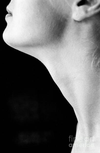 Wall Art - Photograph - Female Neck Side View by Guido Koppes