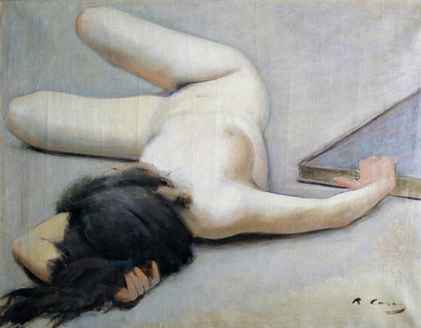 Wall Art - Painting - Female Nude - Digital Remastered Edition by Ramon Casas