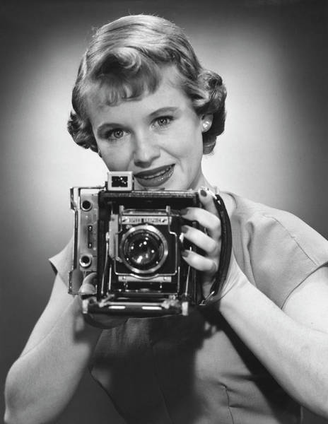 Female Photographer Art Print