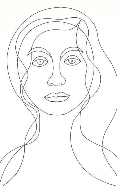 Wall Art - Painting - Female Portrait, Untitled by Manuel Bennett