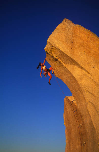 Determination Photograph - Female Rock Climber by Greg Epperson