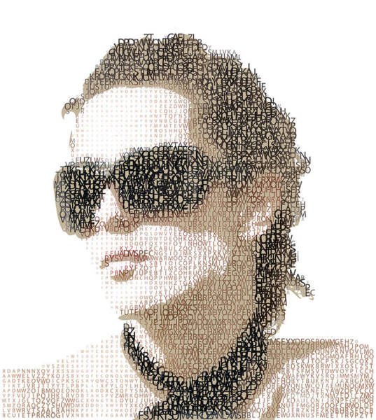 Wall Art - Digital Art - Femme Fatale. Woman Portrait Made From by Ryger