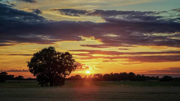 Photograph - Fen Sunset by James Billings