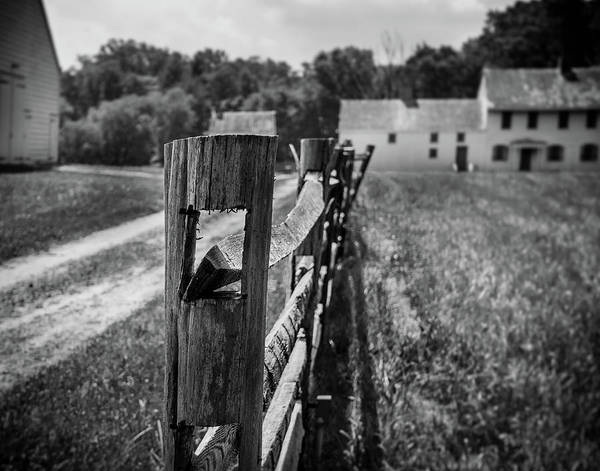 Photograph - Fence At Rockingham by Steve Stanger