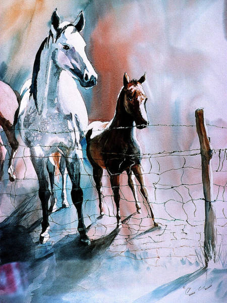 Painting - Fence Line by Connie Williams