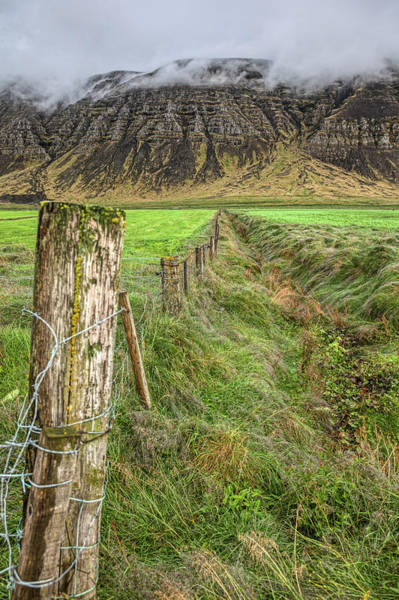 Photograph - Fence Of Iceland by David Letts