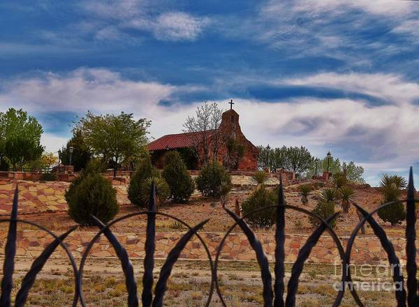 Wall Art - Photograph - Fenced In Chapel by Suzanne Wilkinson