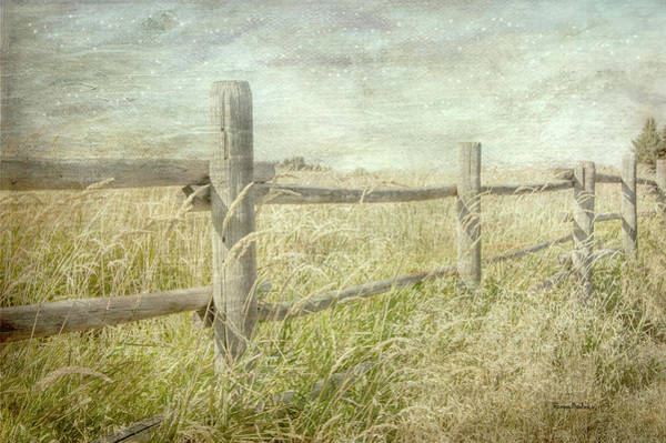 Prairie Home Digital Art - Fenced In by Ramona Murdock