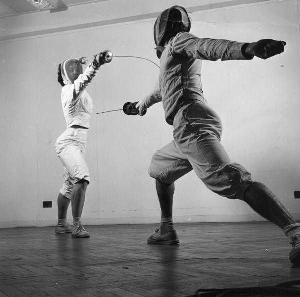 Photograph - Fencers Training by Thurston Hopkins