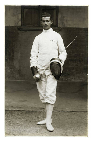 Old People Photograph - Fencing Athlete by Fototeca Gilardi