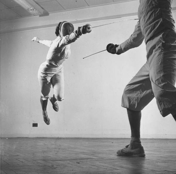 Photograph - Fencing Leap by Thurston Hopkins