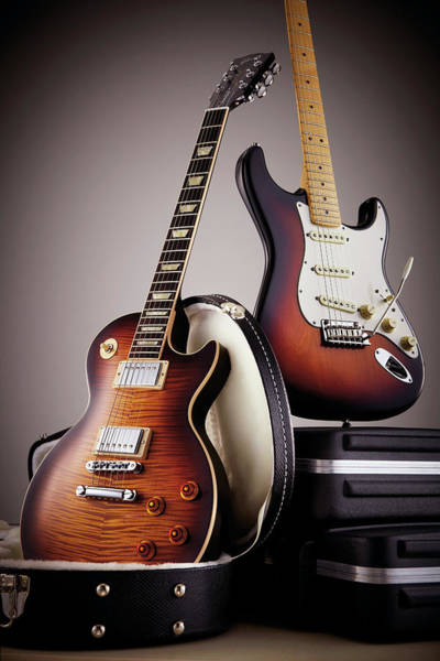 Publication Photograph - Fender And Gibson Standard Electric by Guitarist Magazine