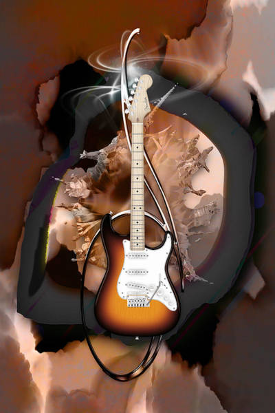 Mixed Media - Fender Stratocaster by Marvin Blaine