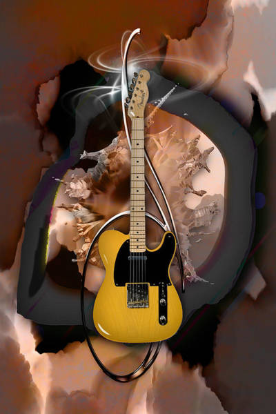 Mixed Media - Fender Telecaster by Marvin Blaine