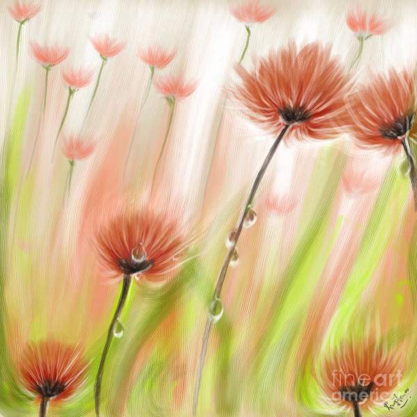 Feng Shui Your Life Dew Drops In The Wind Art Print by Remy Francis