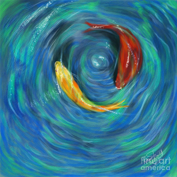 Feng Shui Your Life With Koi Fish Art Print by Remy Francis