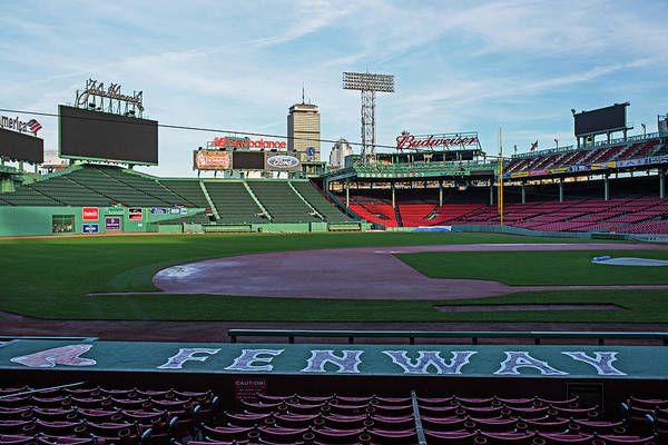 Photograph - Fenway Park Dugout Boston Ma by Toby McGuire