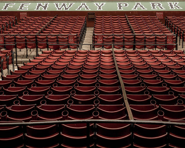 Photograph - Fenway Park Red Seats by Joann Vitali