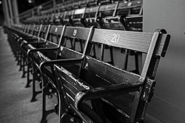 Wall Art - Photograph - Fenway Park Seats Black And White Boston Ma by Toby McGuire
