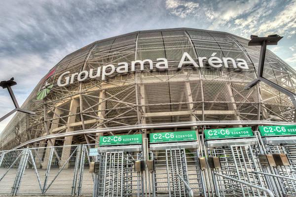 Wall Art - Photograph -  Ferencvaros Groupama Arena by David Pyatt